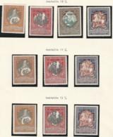 RUSSIE - N°97/100 * ( 1915-16) Timbres De Bienfaisance - Différentes Dentelures - 1857-1916 Empire