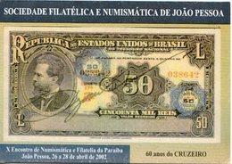 60 AÑOS DO CRUZEIRO BRASIL TARJETA POSTAL COLOR YEAR 2002 -LILHU - Brazilië