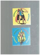 2 Adesivi Vintage Flash Gordon Vultano & Barin Cm. 10x10 - Pubblicitari