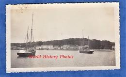 Photo Ancienne Snapshot - PERROS GUIREC - Beau Bateau à Identifier - Voile Voilier Port Cotes D'Armor Bretagne - Schiffe