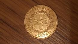 20 Francs Or Génie 1895 A - IIIe République - Oro