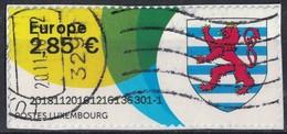 Luxembourg Vignette Oblitérée Blason Lion Héraldique Sur Fragment SU - Automatenmarken