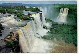IGUAZU FALLS CATARATAS DO RIO IGUAÇU BRASIL TARJETA POSTAL COLOR CIRCA 1970 -LILHU - Brazilië