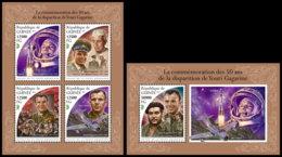 GUINEA REP. 2018 **MNH Yuri Gagarin Space Raumfahrt Espace M/S+S/S - OFFICIAL ISSUE - DH1847 - Africa