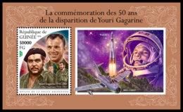 GUINEA REP. 2018 **MNH Yuri Gagarin Space Raumfahrt Espace S/S - OFFICIAL ISSUE - DH1847 - Space