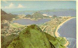 VISTA DO CORCOVADO RIO DE JANEIRO BRASIL TARJETA POSTAL COLOR CIRCA 1950 -LILHU - Rio De Janeiro