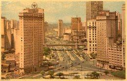 VALE DO ANHANGABAU SAO PAULO BRASIL TARJETA POSTAL COLOR CIRCA 1950 -LILHU - São Paulo