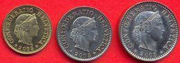 Switzerland Swiss 5 10 20 Rappen 2003 VF / XF (Set 3 Coins) - Suiza