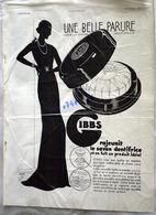 """{07492,06} Publicités """" Silexore  ,Gibbs """", De L'illustration N° 4744 (1934)  """" En Baisse """" - Reclame"""