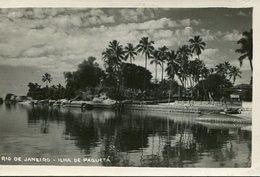 ISLAND ILHA DE PAQUETA RIO DE JANEIRO BRASIL TARJETA POSTAL B/W CIRCA 1930 -LILHU - Rio De Janeiro