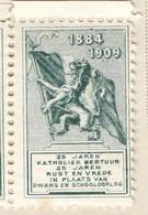 1884-1909 Katholiek Bestuur  5 Vignettes Politiques - Belgium