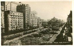 PRAÇA MAR FLORIANO RIO DE JANEIRO BRASIL TARJETA POSTAL B/W CIRCA 1930 -LILHU - Rio De Janeiro