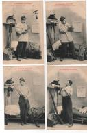 CPA - 8 Cartes  - Pitou  - Bergeret - Humoristiques