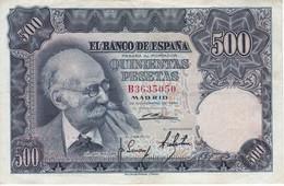 BILLETE DE ESPAÑA DE 500 PTAS AÑO 1951 DE BENLLIURE SERIE B EN CALIDAD EBC (XF)   (BANKNOTE) - [ 3] 1936-1975: Regime Van Franco