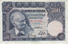 BILLETE DE ESPAÑA DE 500 PTAS AÑO 1951 DE BENLLIURE SERIE B EN CALIDAD EBC (XF)   (BANKNOTE) - [ 3] 1936-1975 : Régimen De Franco