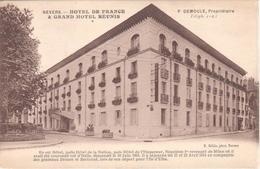 POSTAL    NEVERS  -FRANCIA  - HPTEL DE FRANCE & GRAND HOTEL REUNIS - Pougues Les Eaux