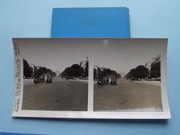 PARIS : Avenue Des Champs-Elysées Prise Du.... : S. 9 - 3295 ( Maison De La Bonne Presse VUES De FRANCE ) Stereo Photo ! - Stereoscopio