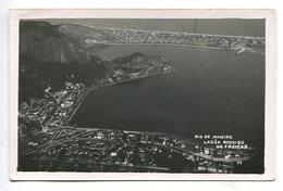 LAGOA RODRIGO DE FREITAS AERIAL VIEW RIO DE JANEIRO BRASIL TARJETA POSTAL B/W CIRCA 1930 -LILHU - Rio De Janeiro