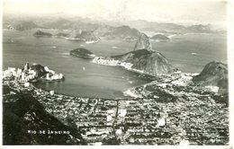 VISTA DO CORCOVADO AERIAL VIEW RIO DE JANEIRO BRASIL TARJETA POSTAL B/W CIRCA 1930 -LILHU - Rio De Janeiro