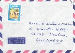 BURUNDI - AIR MAIL LETTER 1993 250 F GOATS Mi #1789 - Burundi