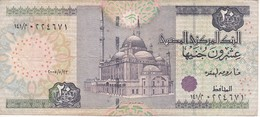 BILLETE DE EGIPTO DE 20 POUNDS DEL AÑO 1987 (BANKNOTE) - Egypte