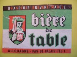 étiquette Ancienne Brasserie  BREVART MARCEL A ALLOUAGNE  Bière De Table - Bière
