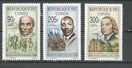 CONGO Scott C413-C415 Yvert PA422-PA424 (3) ** Cote 7,00 $ 1993 - Congo - Brazzaville