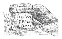 66)  ANGOUSTRINE  - Autel Romain De Jupiter - Inscription I.O.M.C.P. Polibius V.S.L.M. - Frankreich