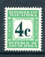 South Africa 1961-69 Postage Dues - 1st Wmk. - 4c Green MNH (SG D54) - Postage Due