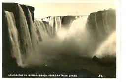 IGUAZU FALLS GARGANTA DO DIABLO CATARATAS DO IGUASSU BRASIL TARJETA POSTAL B/W CIRCA 1930 -LILHU - Brazilië