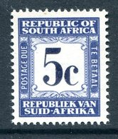 South Africa 1961-69 Postage Dues - 1st Wmk. - 5c Blue MNH (SG D55) - Postage Due