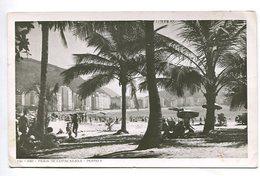 RIO PRIA DO COPACABANA BEACH BRASIL TARJETA POSTAL B/W CIRCA 1930 -LILHU - Copacabana