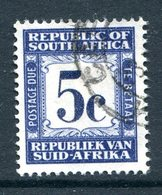 South Africa 1961-69 Postage Dues - 1st Wmk. - 5c Blue Used (SG D55) - Postage Due