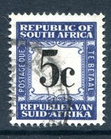 South Africa 1961-69 Postage Dues - 1st Wmk. - 5c Blue And Black Used (SG D56) - Postage Due