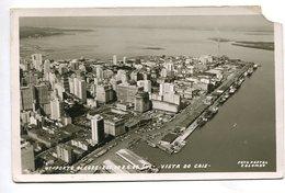AERIAL VIEW VISTA DO CAIS EST. DO R. G. DO SUL PORTO ALEGRE BRASIL TARJETA POSTAL B/W CIRCA 1930 -LILHU - Porto Alegre