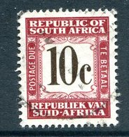 South Africa 1961-69 Postage Dues - 1st Wmk. - 10c Brown Used (SG D58) - Postage Due