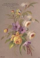 Bouquet De Fleurs Signé Emilie Vouga - Kaufmanns- Und Zigarettenbilder