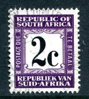 South Africa 1967-71 Postage Dues - 2nd Wmk. - 2c Deep Violet Used (SG D62) - Postage Due