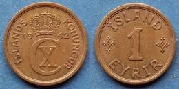 ICELAND - 1 Eyrir 1942 KM# 5.2 Christian X (1912-1947) - Edelweiss Coins - Islande