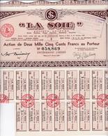 Th3LOT (11 Titres) : LA SOIE : Action De 2500 Frs1950  (37) - Other