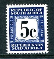 South Africa 1967-71 Postage Dues - 2nd Wmk. - 5c Deep Blue MNH (SG D66) - Postage Due