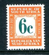 South Africa 1967-71 Postage Dues - 2nd Wmk. - 6c Orange MNH (SG D68) - Postage Due