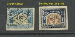 Estland Estonia 1920 Michel 26 = ERROR Abart , 2 Stamps, Mint & Used - Estonie