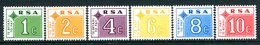 South Africa 1972 Postage Dues Set MNH (SG D75-D80) - Postage Due