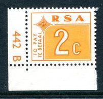 South Africa 1972 Postage Dues - 2c Orange MNH (SG D76) - Postage Due