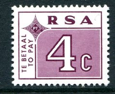 South Africa 1972 Postage Dues - 4c Plum MNH (SG D77) - Postage Due