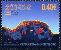 2017 Historical Heritage, Gorski Vijenac, Montenegro, MNH - Montenegro