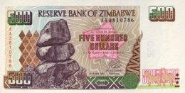 Zimbabwe 500 Dollars, P-11a (2001) - UNC - Zimbabwe