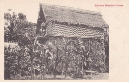 SOLOMON ISLANDER'S HOUSE. WESTERN PACIFIC HERALD SERIES. CIRCA 1900s-RARISIME-BLEUP - Solomoneilanden