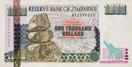 Zimbabwe 1.000 Dollars, P-12a (2003) - UNC - Simbabwe